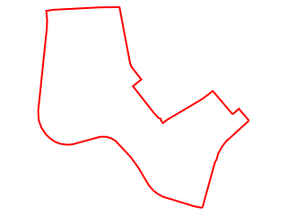 Map showing location of 15: Red Mile